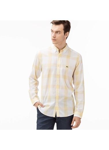 Kareli Slim Fit Uzun Kollu Gömlek-Lacoste